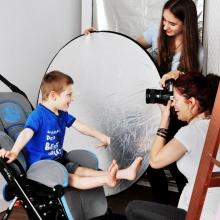 Un coup de coeur: un autre Louis, le fils de notre amie Isabelle Nadeau. Celui-ci est atteint du syndrome d'Angelman et a le même que notre Louis. Il a eu tellement de plaisir à se faire photographier! (Et nous à le regarder)